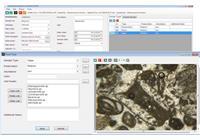 نمایی از صفحه نرم افزاری میکروفسیل در سامانه جامع مستندات علوم زمین