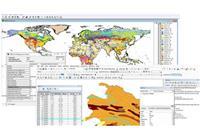 نمایی از بانک اطلاعات جامع خاک شناسی HWSD