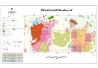 تلفیق نقشه زمین شناسی 250000  و تارگت های استخراج شده حاصل مطالعات قبل منطقه هلالی